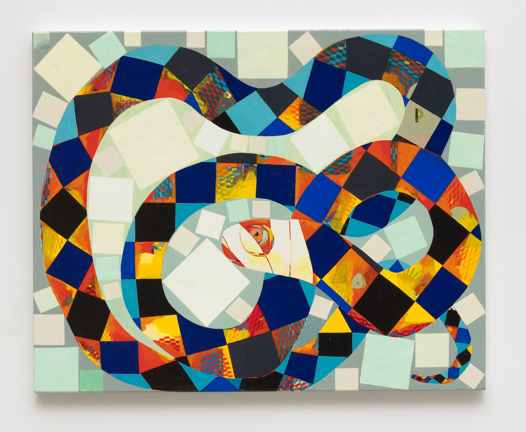 """Brad Eberhard """"Malevich's Dilemma,"""" 2020 Oil on linen 24 x 30"""" [HxW] (60.96 x 76.2 cm) Inventory #EBE162 Courtesy of the artist and Vielmetter Los Angeles Photo credit: Robert Wedemeyer"""