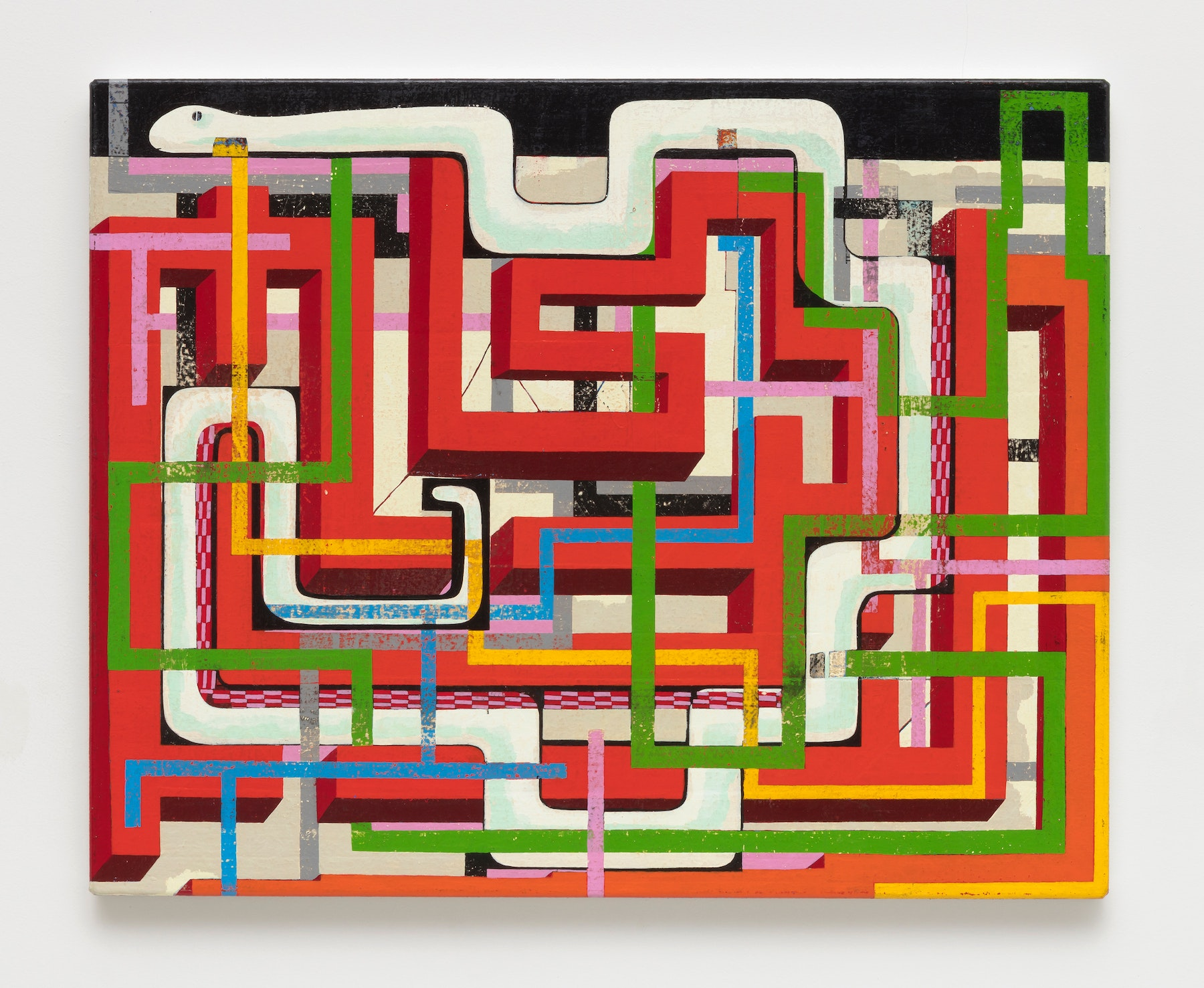 """Brad Eberhard """"New Neural Pathway,"""" 2020 Oil on canvas 24 x 30"""" [HxW] (60.96 x 76.2 cm) Inventory #EBE166 Courtesy of the artist and Vielmetter Los Angeles Photo credit: Robert Wedemeyer"""