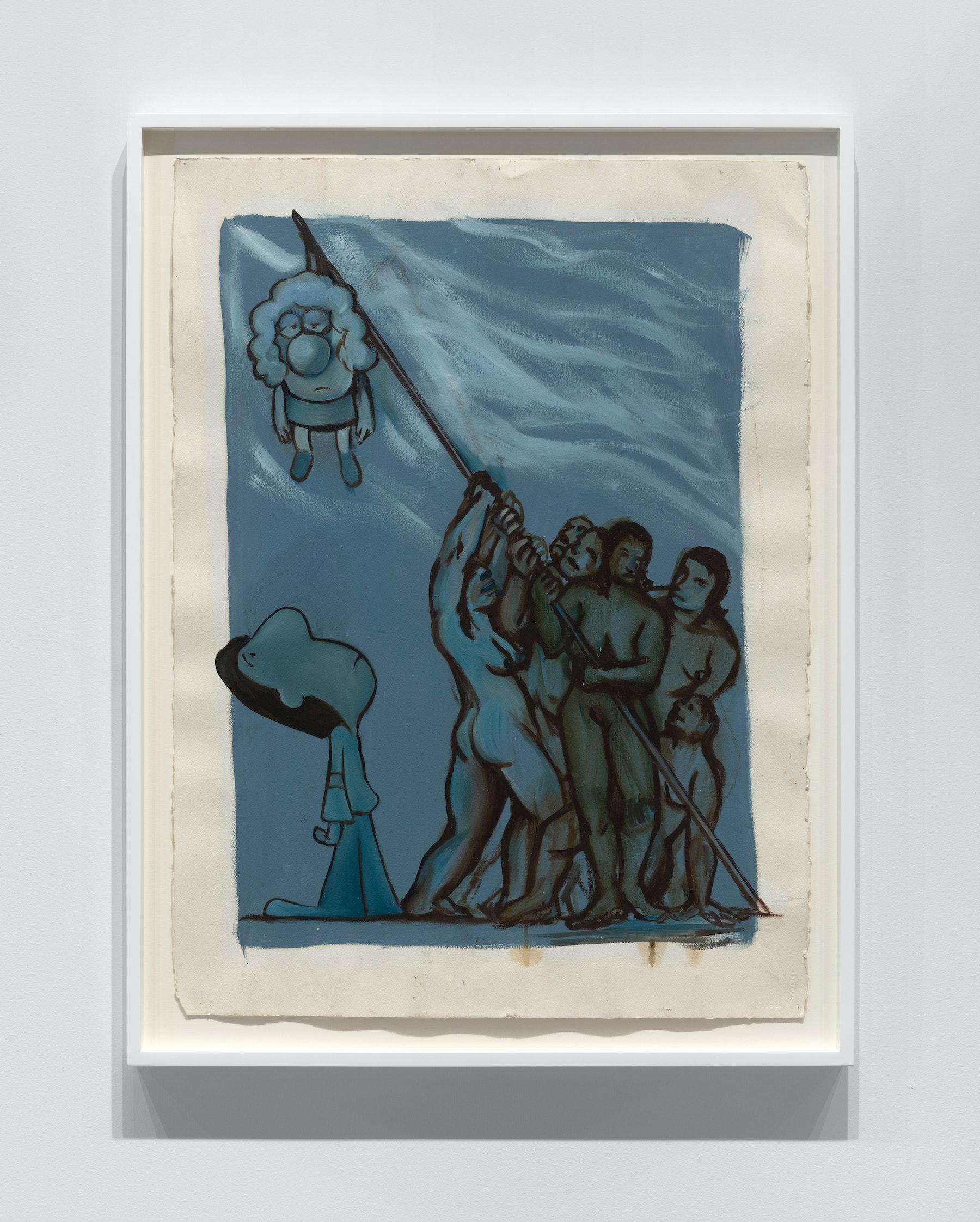 "Nicole Eisenman ""Momma,"" 1996 Oil on paper 30"" x 22"" [HxW] (76.2 x 55.88 cm) Inventory #EIS592 Courtesy of the artist and Vielmetter Los Angeles Photo credit: Steven Probert"