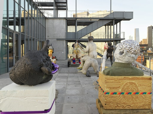 """Nicole Eisenman, """"Procession"""" in the Whitney Biennial (May 17–September 22, 2019) Installation view"""