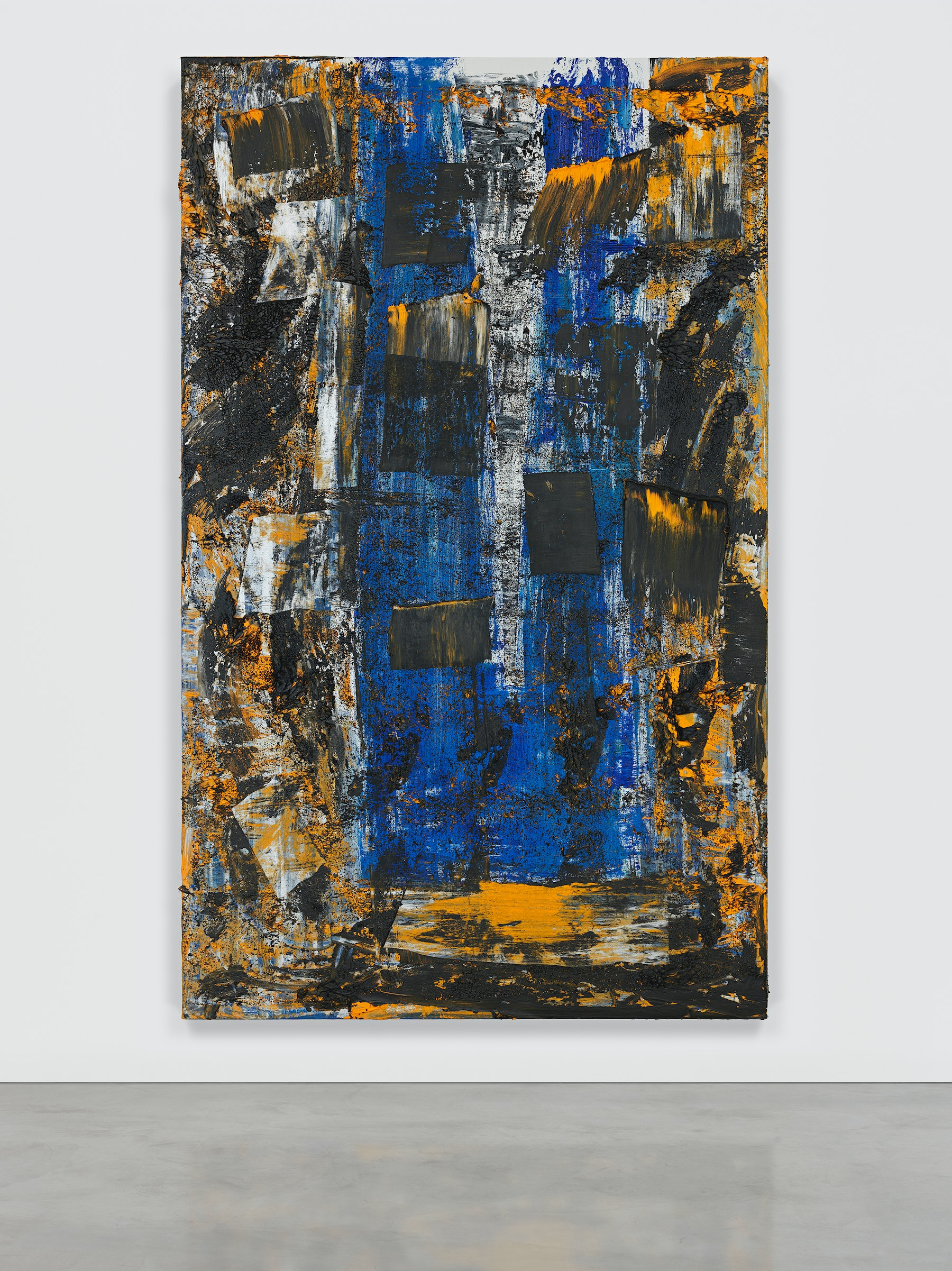 """Louise Fishman """"KOL NIDRE,"""" 2019 Oil on linen 74"""" x 46"""" [HxW] (187.96 x 116.84 cm) Inventory #FIS128 Courtesy of the artist and Vielmetter Los Angeles Photo credit: Genevieve Hanson Signed and dated on verso"""