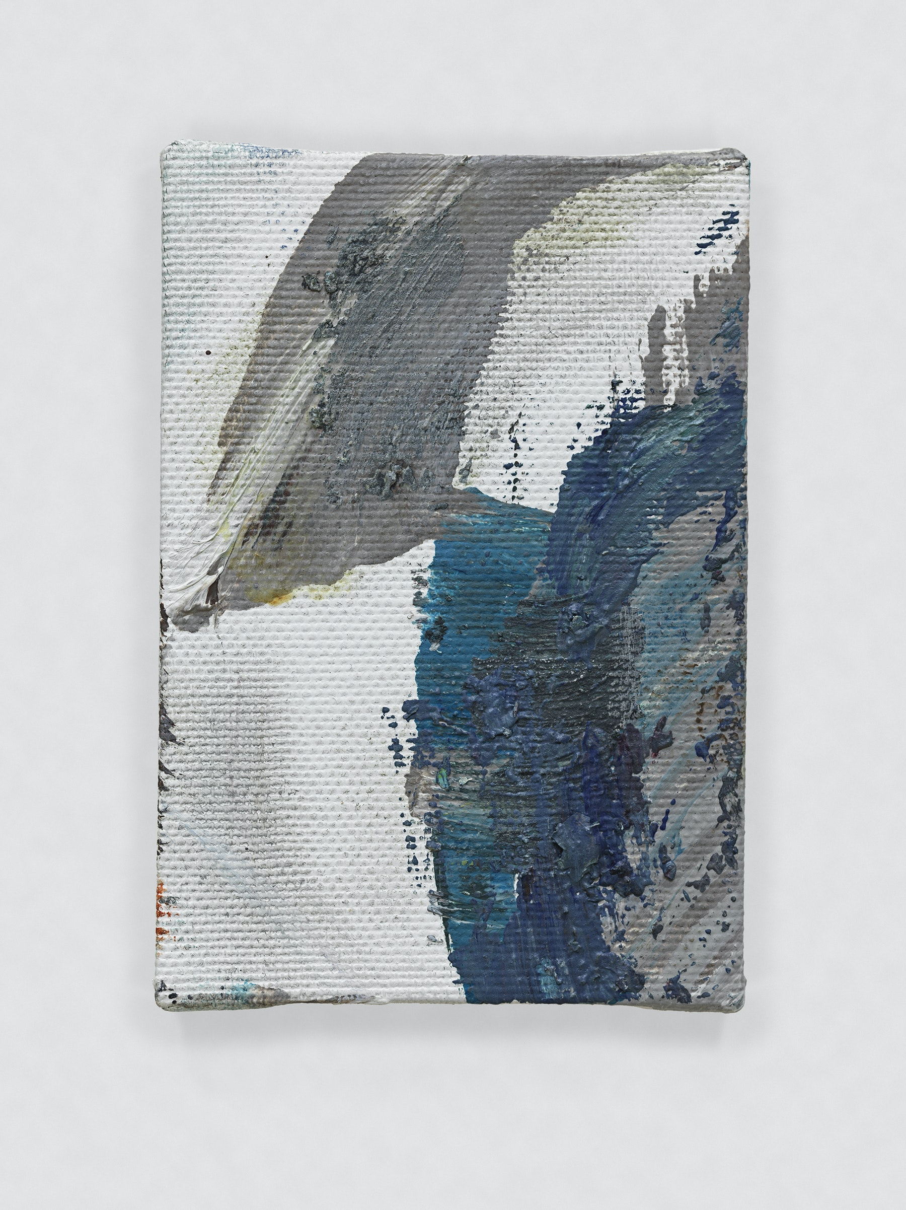 """Louise Fishman """"UNTITLED,"""" 2011 Oil on canvas 4 x 2.75"""" [HxW] (10.16 x 6.99 cm) Inventory #FIS130 Courtesy of the artist and Vielmetter Los Angeles Photo credit: Genevieve Hanson Signed and dated on verso"""