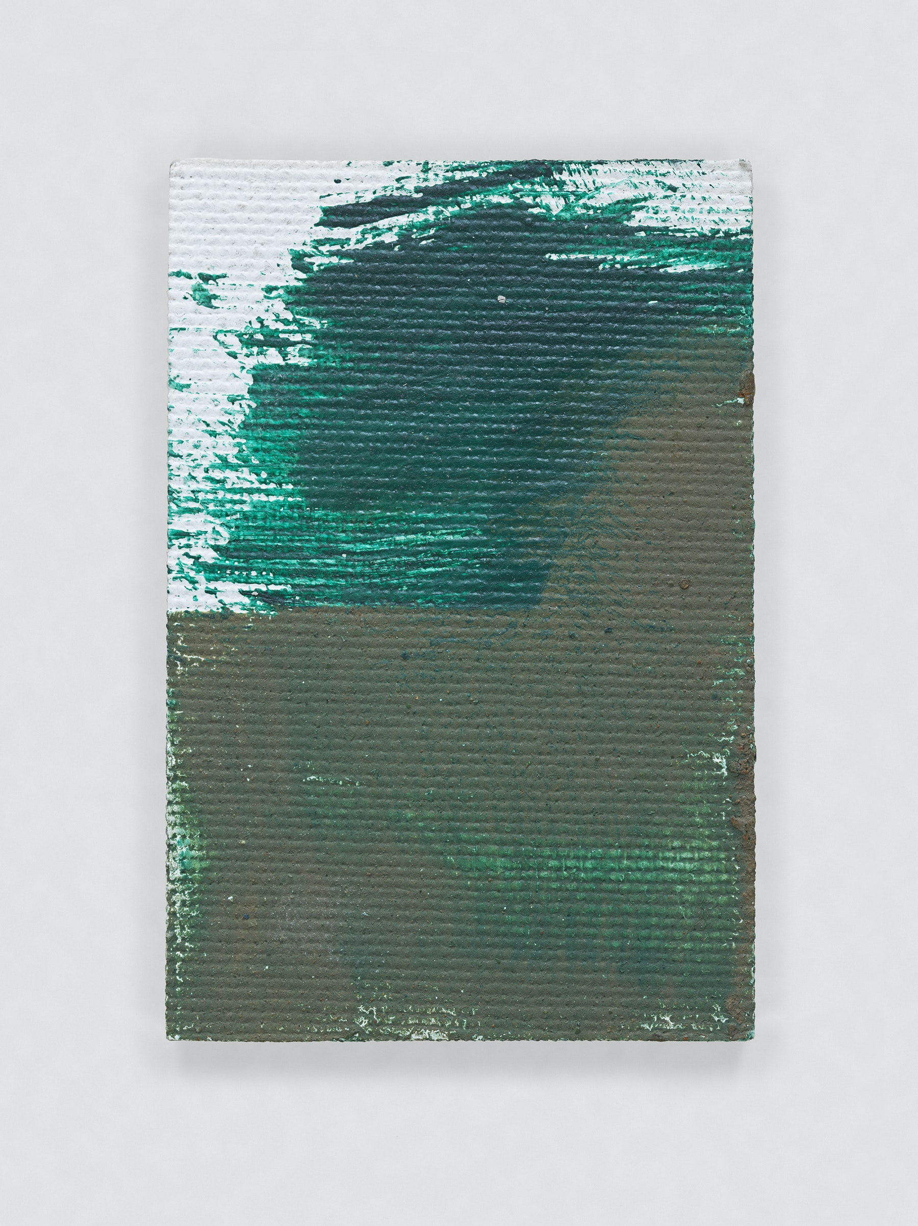 """Louise Fishman """"UNTITLED,"""" 2011 Oil on board 3 x 2"""" [HxW] (7.62 x 5.08 cm) Inventory #FIS132 Courtesy of the artist and Vielmetter Los Angeles Photo credit: Genevieve Hanson Signed and dated on verso"""