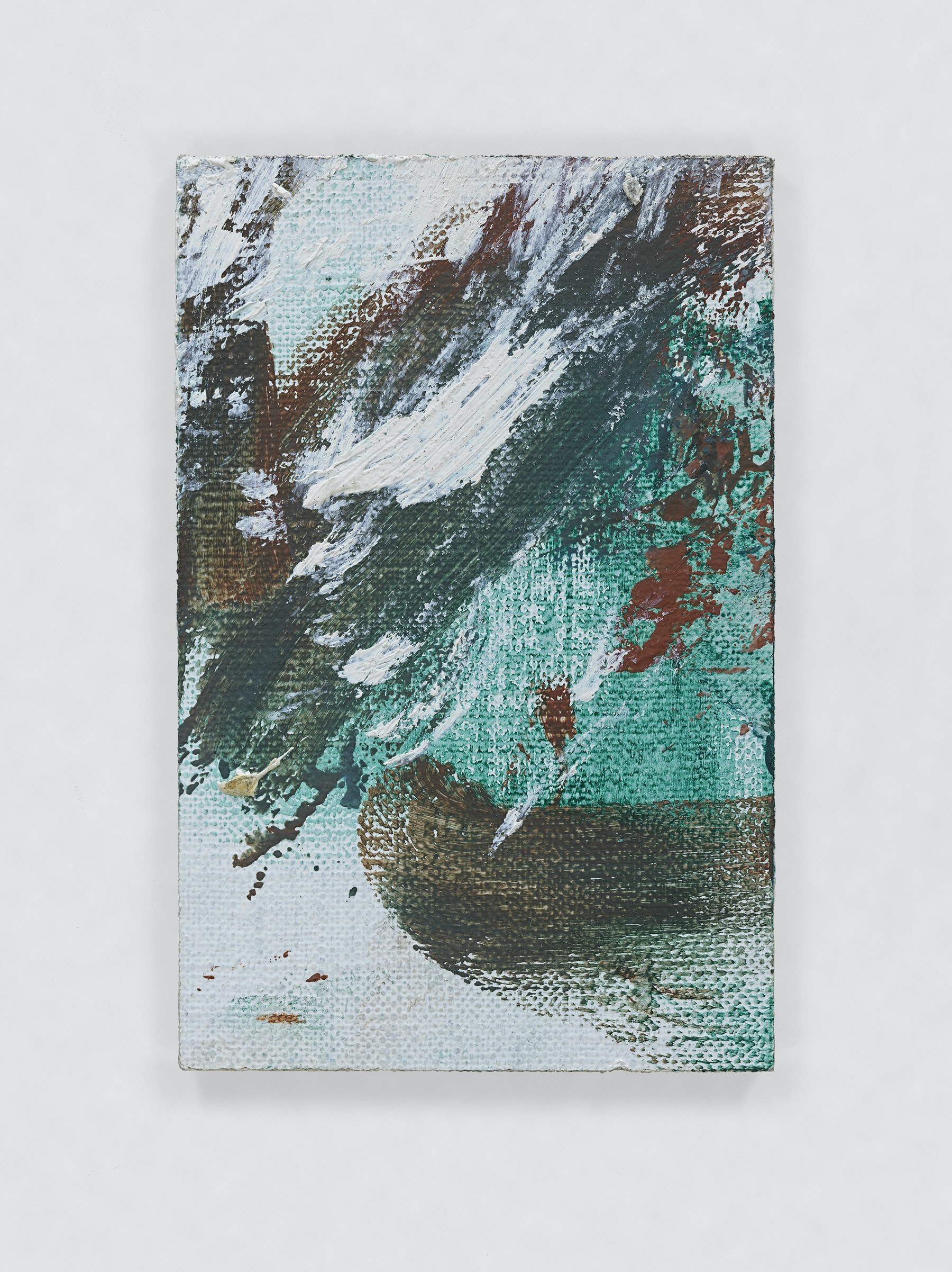 """Louise Fishman """"UNTITLED,"""" 2011 Oil on board 3 x 2"""" [HxW] (7.62 x 5.08 cm) Inventory #FIS133 Courtesy of the artist and Vielmetter Los Angeles Photo credit: Genevieve Hanson Signed and dated on verso"""