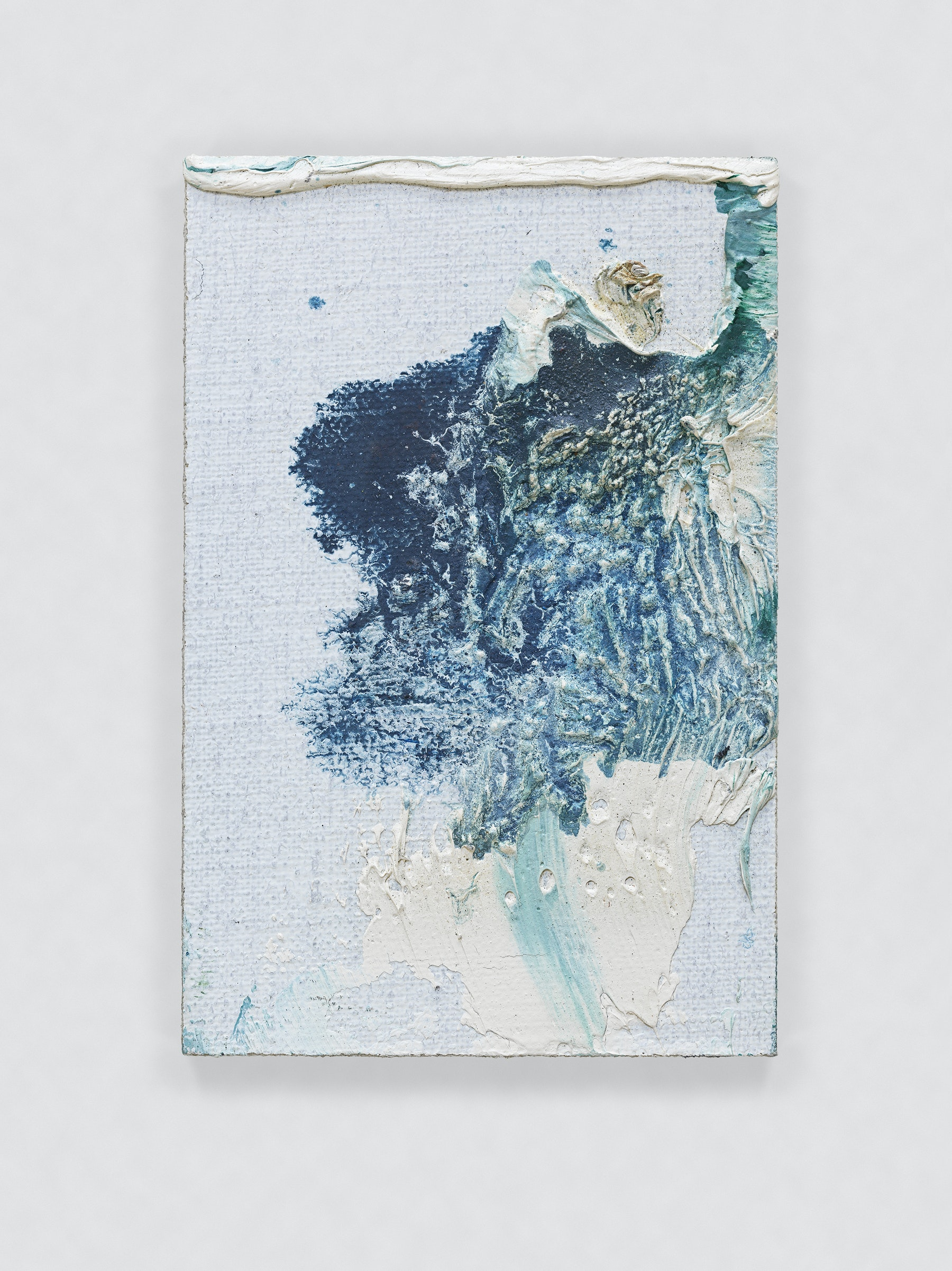 """Louise Fishman """"UNTITLED,"""" 2011 Oil on board 3 x 2"""" [HxW] (7.62 x 5.08 cm) Inventory #FIS134 Courtesy of the artist and Vielmetter Los Angeles Photo credit: Genevieve Hanson Signed and dated on verso"""