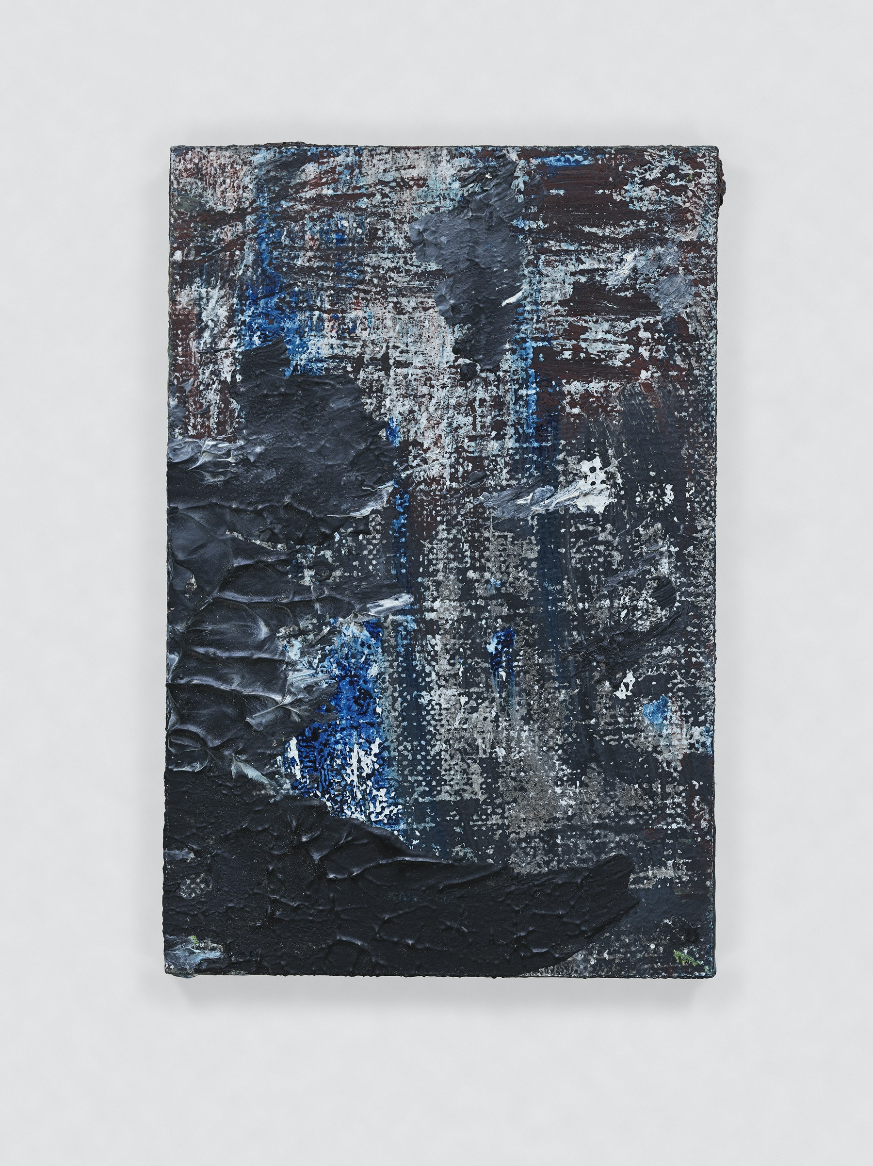 """Louise Fishman """"UNTITLED,"""" 2011 Oil on board 3 x 2"""" [HxW] (7.62 x 5.08 cm) Inventory #FIS135 Courtesy of the artist and Vielmetter Los Angeles Photo credit: Genevieve Hanson Signed and dated on verso"""