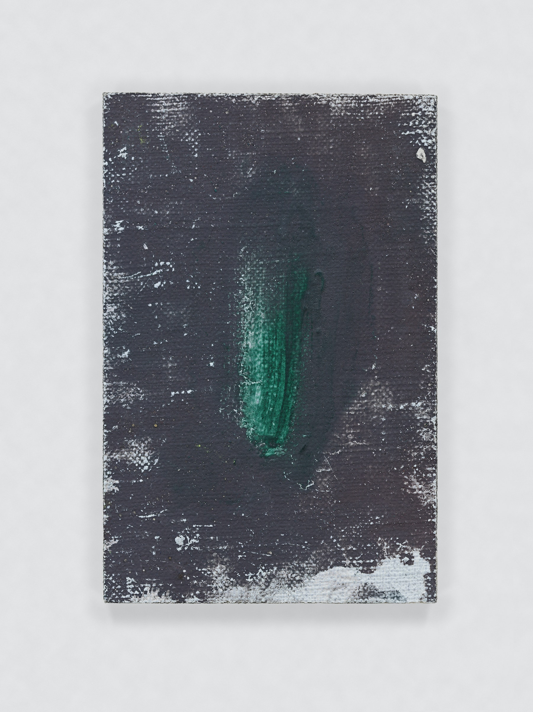"""Louise Fishman """"UNTITLED,"""" 2011 Oil on board 3 x 2"""" [HxW] (7.62 x 5.08 cm) Inventory #FIS136 Courtesy of the artist and Vielmetter Los Angeles Photo credit: Genevieve Hanson Signed and dated on verso"""