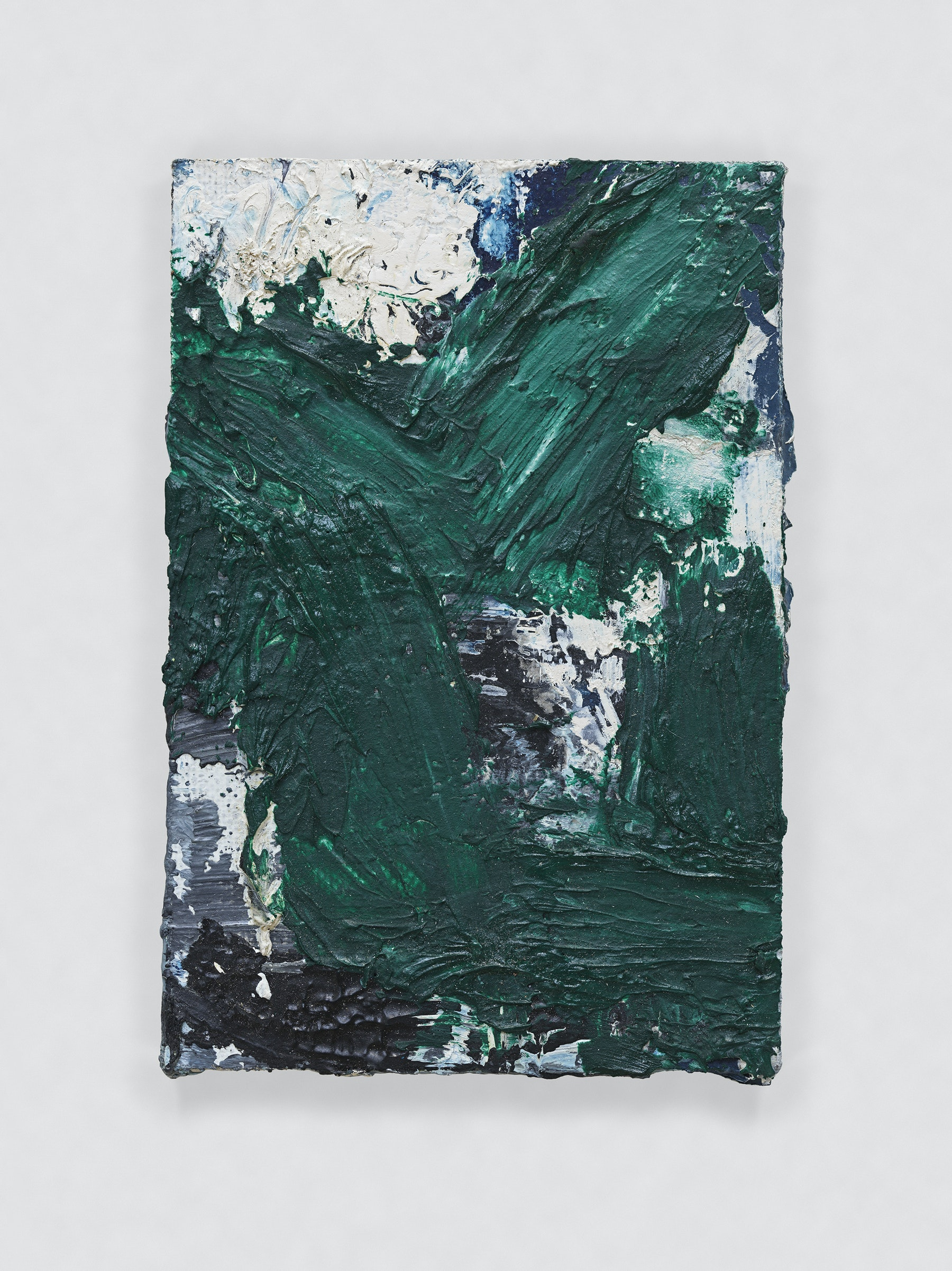 """Louise Fishman """"UNTITLED,"""" 2011 Oil on board 3 x 2"""" [HxW] (7.62 x 5.08 cm) Inventory #FIS137 Courtesy of the artist and Vielmetter Los Angeles Photo credit: Genevieve Hanson Signed and dated on verso"""