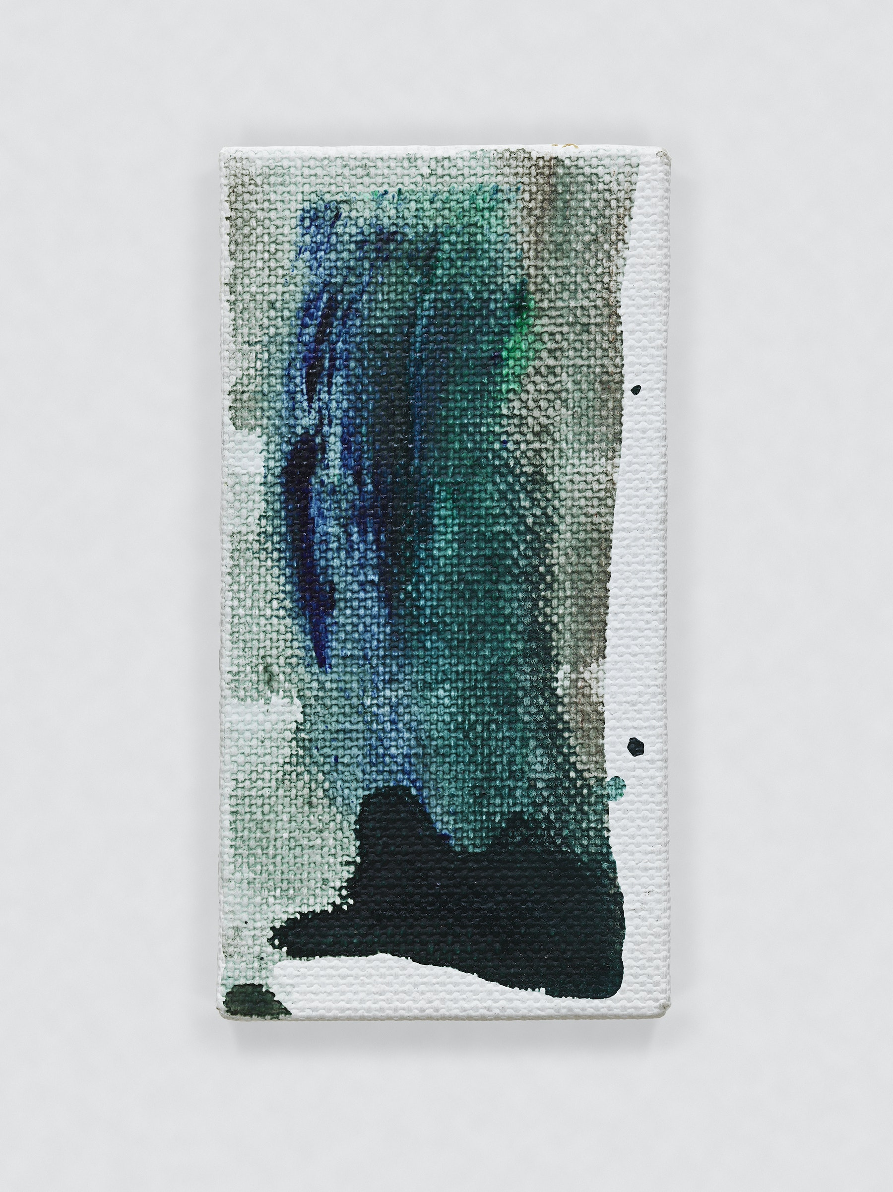 """Louise Fishman """"UNTITLED,"""" 2014 Oil on canvas 4.06 x 2.09"""" [HxW] (10.31 x 5.31 cm) Inventory #FIS144 Courtesy of the artist and Vielmetter Los Angeles Photo credit: Genevieve Hanson Signed and dated on verso"""