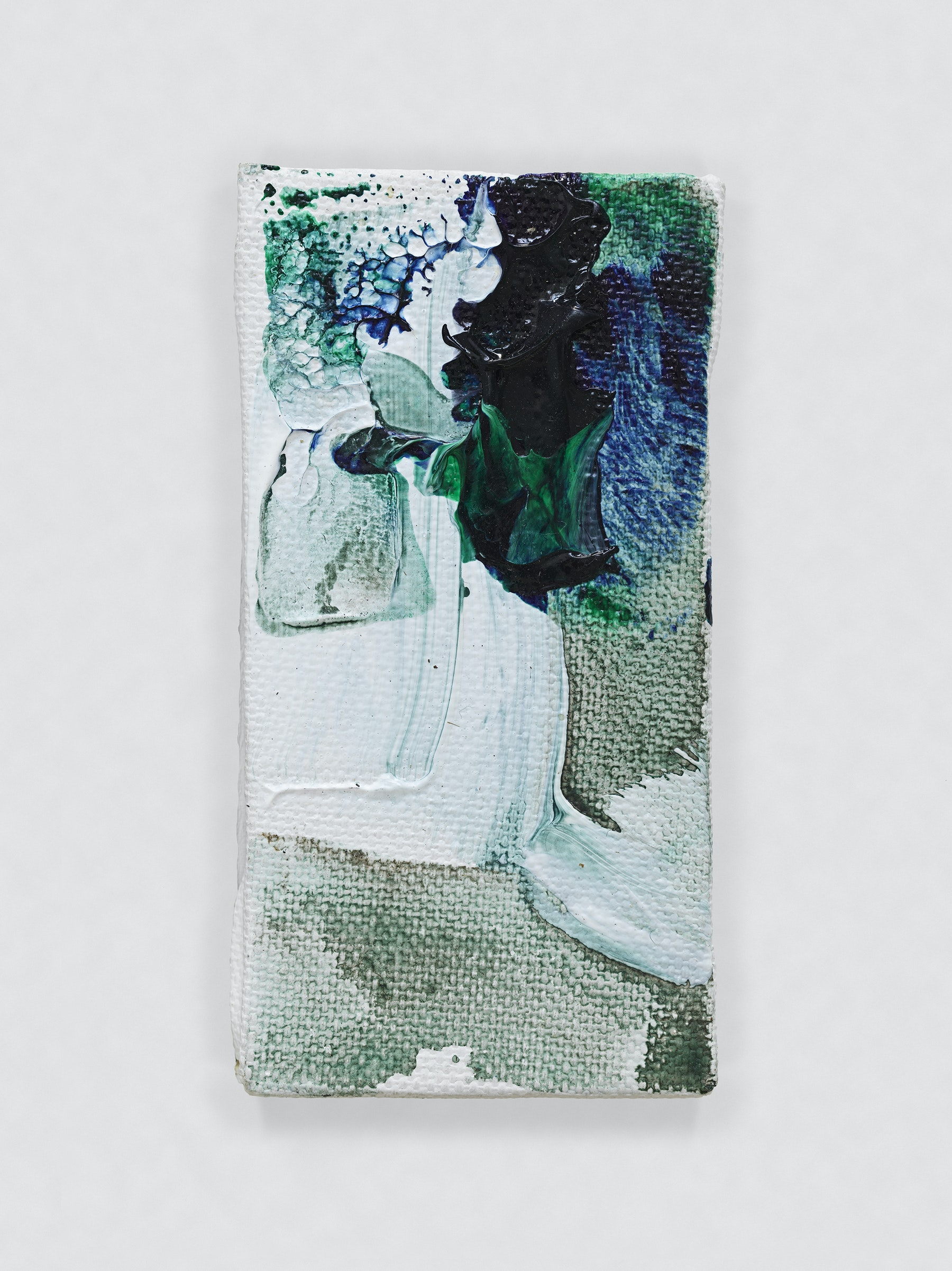"""Louise Fishman """"UNTITLED,"""" 2014 Oil on canvas 4.06 x 2.09"""" [HxW] (10.31 x 5.31 cm) Inventory #FIS147 Courtesy of the artist and Vielmetter Los Angeles Photo credit: Genevieve Hanson Signed and dated on verso"""