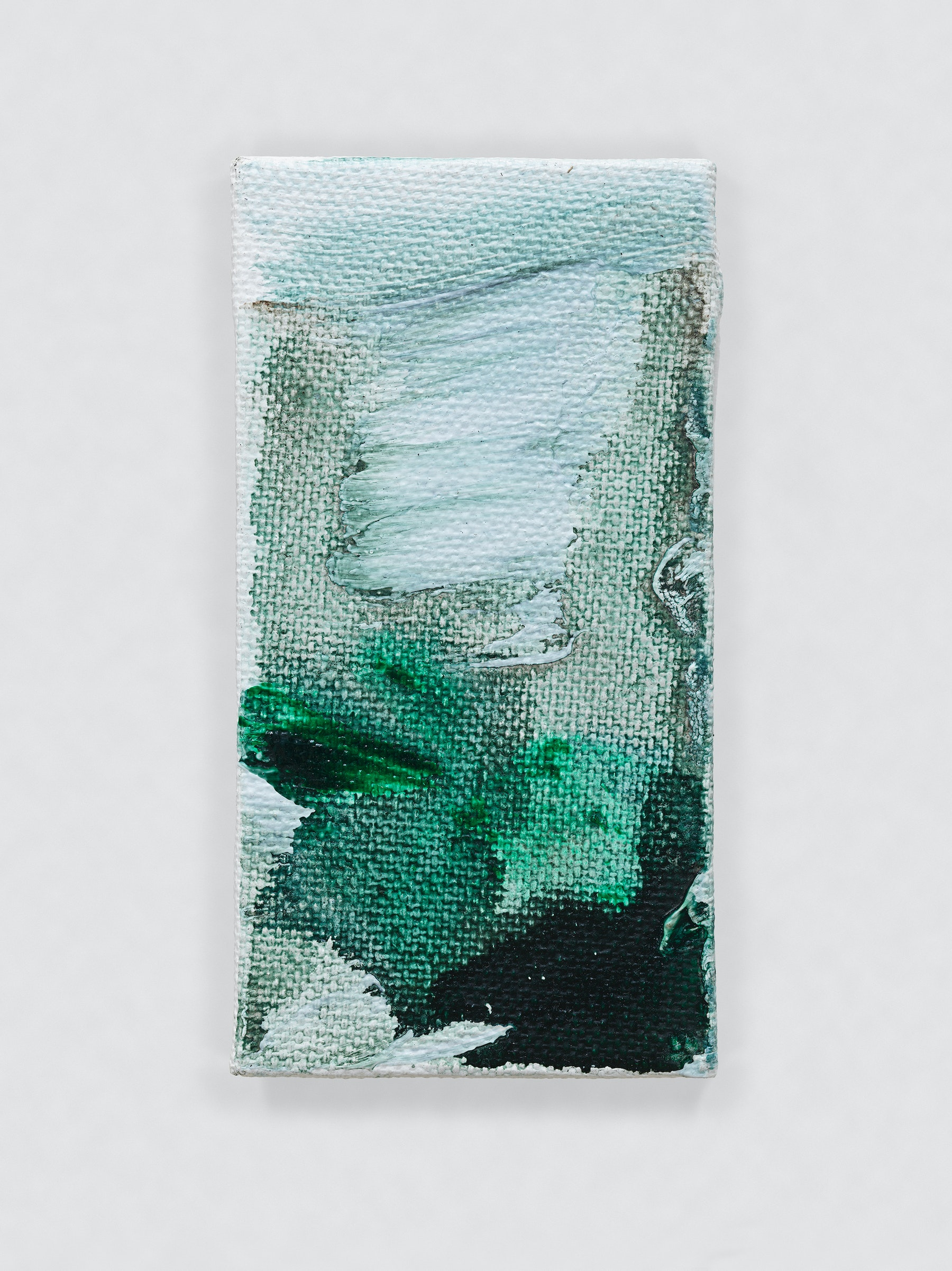 "Louise Fishman ""UNTITLED,"" 2014 Oil on canvas 4.06 x 2.09"" [HxW] (10.31 x 5.31 cm) Inventory #FIS148 Courtesy of the artist and Vielmetter Los Angeles Photo credit: Genevieve Hanson Signed and dated on verso"