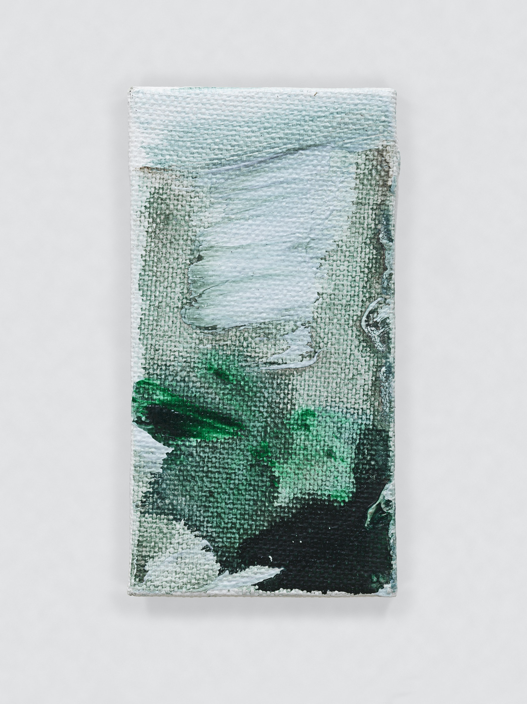 """Louise Fishman """"UNTITLED,"""" 2014 Oil on canvas 4.06 x 2.09"""" [HxW] (10.31 x 5.31 cm) Inventory #FIS148 Courtesy of the artist and Vielmetter Los Angeles Photo credit: Genevieve Hanson Signed and dated on verso"""