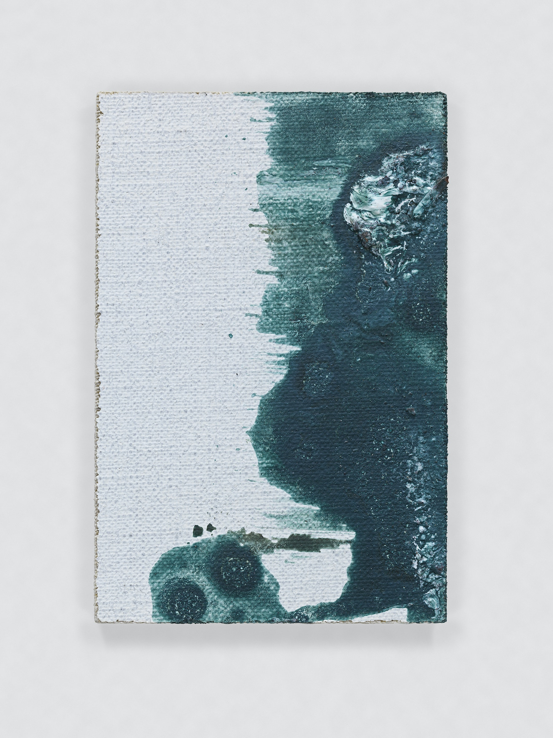 """Louise Fishman """"UNTITLED,"""" 2014 Oil on acrylic gesso primed cotton canvas 3 x 2"""" [HxW] (7.62 x 5.08 cm) Inventory #FIS150 Courtesy of the artist and Vielmetter Los Angeles Photo credit: Genevieve Hanson Signed and dated on verso"""