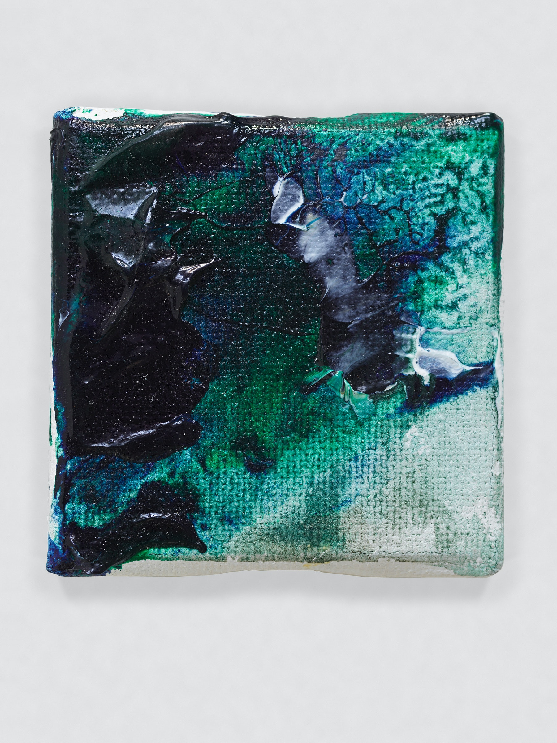 "Louise Fishman ""UNTITLED,"" 2014 Oil on canvas 2 x 2"" [HxW] (5.08 x 5.08 cm) Inventory #FIS152 Courtesy of the artist and Vielmetter Los Angeles Photo credit: Genevieve Hanson Signed and dated on verso"
