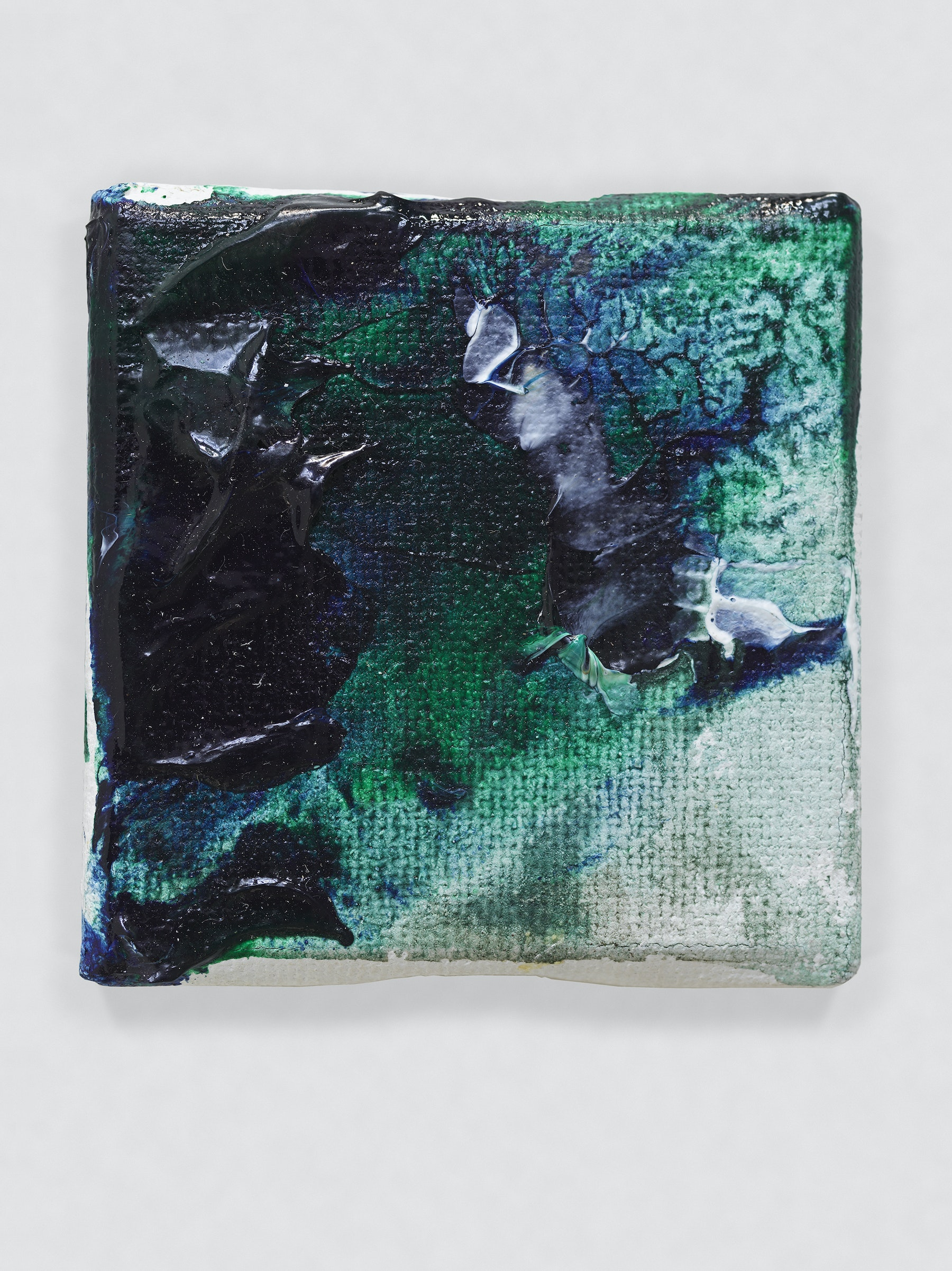 """Louise Fishman """"UNTITLED,"""" 2014 Oil on canvas 2 x 2"""" [HxW] (5.08 x 5.08 cm) Inventory #FIS152 Courtesy of the artist and Vielmetter Los Angeles Photo credit: Genevieve Hanson Signed and dated on verso"""