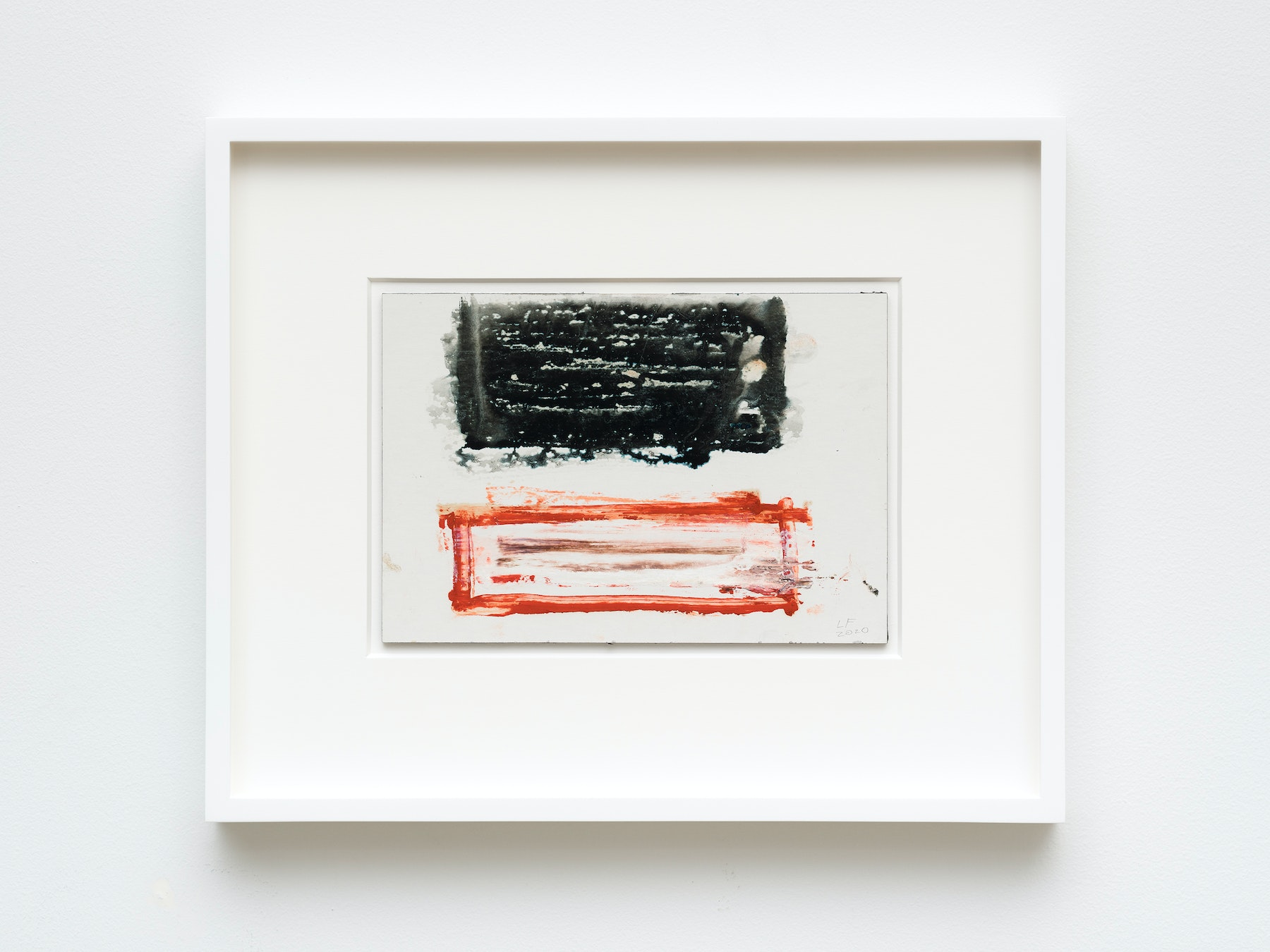 """Louise Fishman """"UNTITLED,"""" 2020 Watercolor on board 7"""" x 10"""" [HxW] (17.78 x 25.4 cm) unframed, 17 ¹⁄₄"""" x 14"""" x 1 ¹⁄₂"""" [HxWxD] (43.81 x 35.56 x 3.81 cm) framed Inventory #FIS164 Courtesy of the artist and Vielmetter Los Angeles Photo credit: Jeff Mclane"""