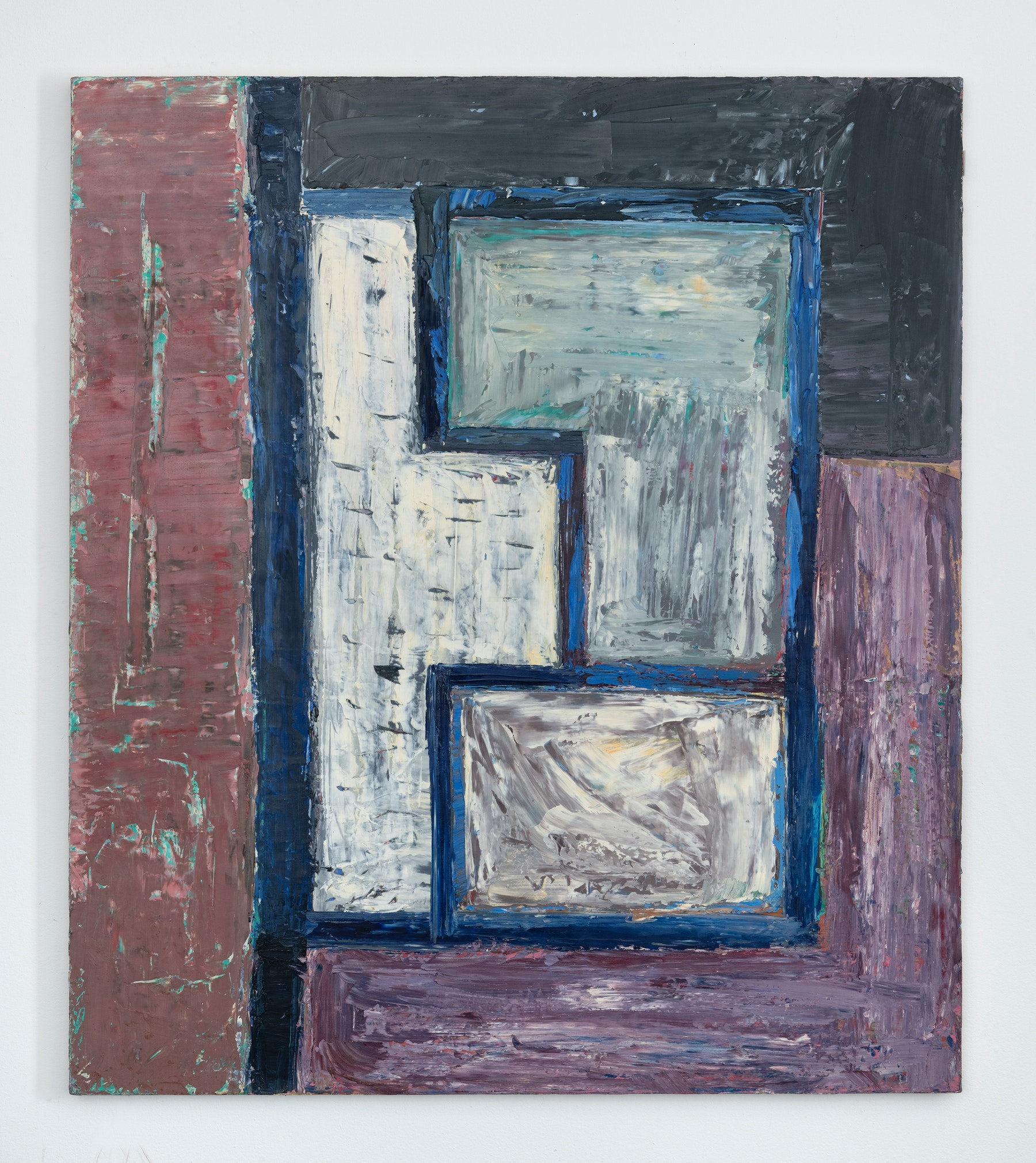 """Louise Fishman """"NEIGHBOR ROSICKY,"""" 1978 Oil on linen 48"""" x 41"""" [HxW] (121.92 x 104.14 cm) Inventory #FIS168 Courtesy of the artist and Vielmetter Los Angeles Photo credit: Adam Reich"""