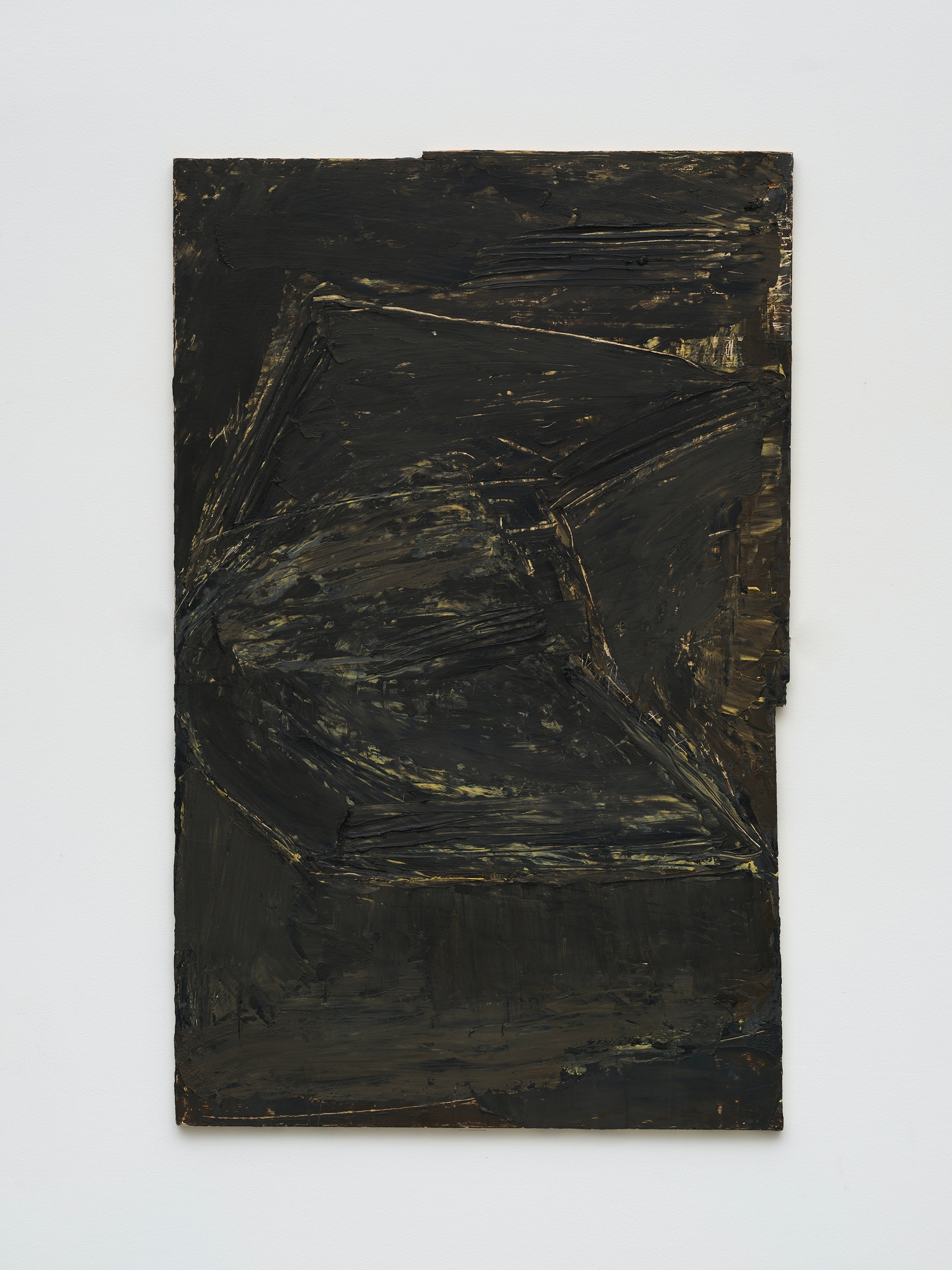 "Louise Fishman ""ST. LUCY, MARTYR,"" 1974 Oil and wax on plywood 38 ¹⁄₄"" x 23 ³⁄₄"" [HxW] (97.16 x 60.33 cm) Inventory #FIS175 Courtesy of the artist and Vielmetter Los Angeles Photo credit: Jeff Mclane"