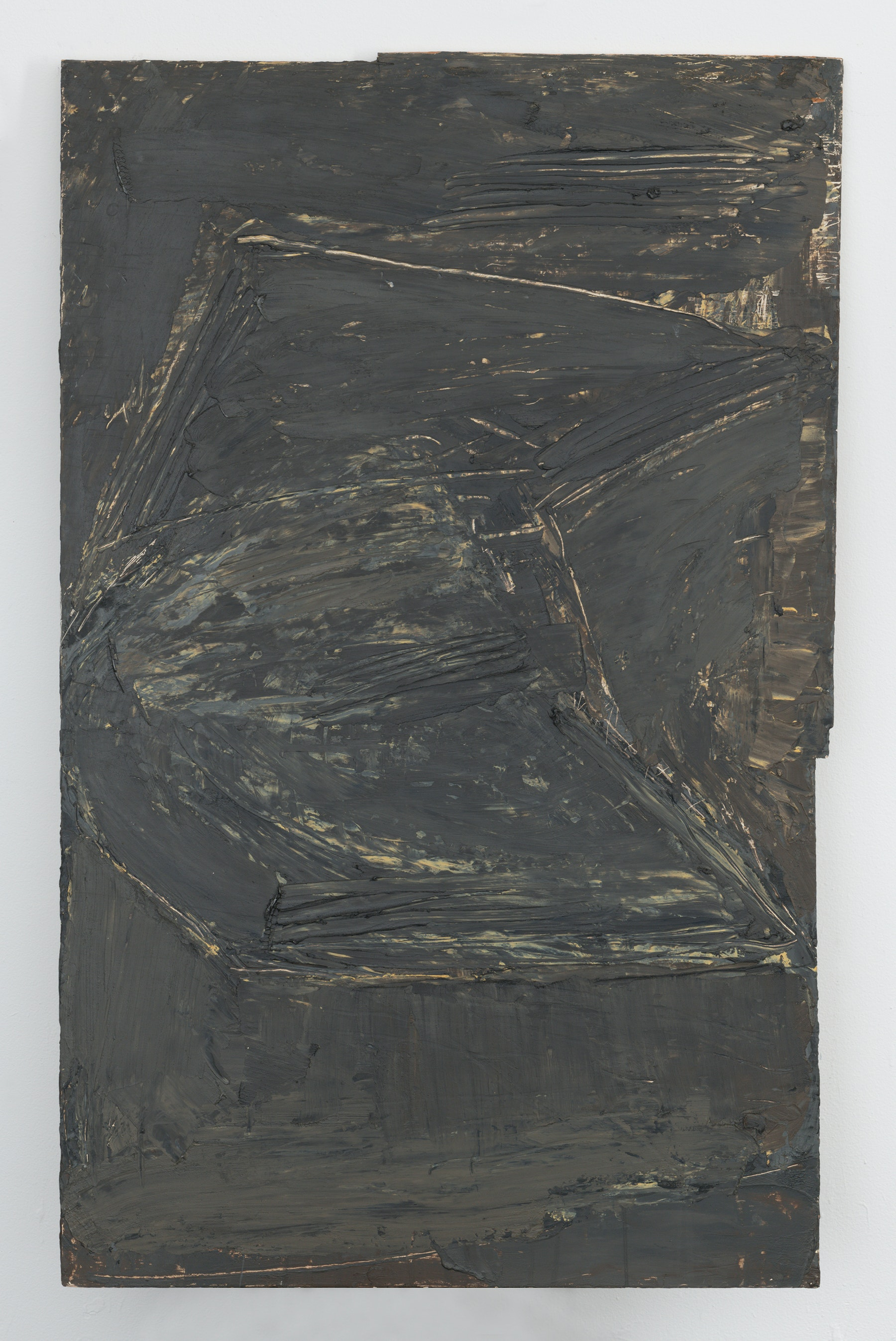 """Louise Fishman """"ST. LUCY, MARTYR,"""" 1974 Oil and wax on plywood 38.25 x 23.75"""" [HxW] (97.16 x 60.33 cm) Inventory #FIS175 Courtesy of the artist and Vielmetter Los Angeles Photo credit: Adam Reich"""