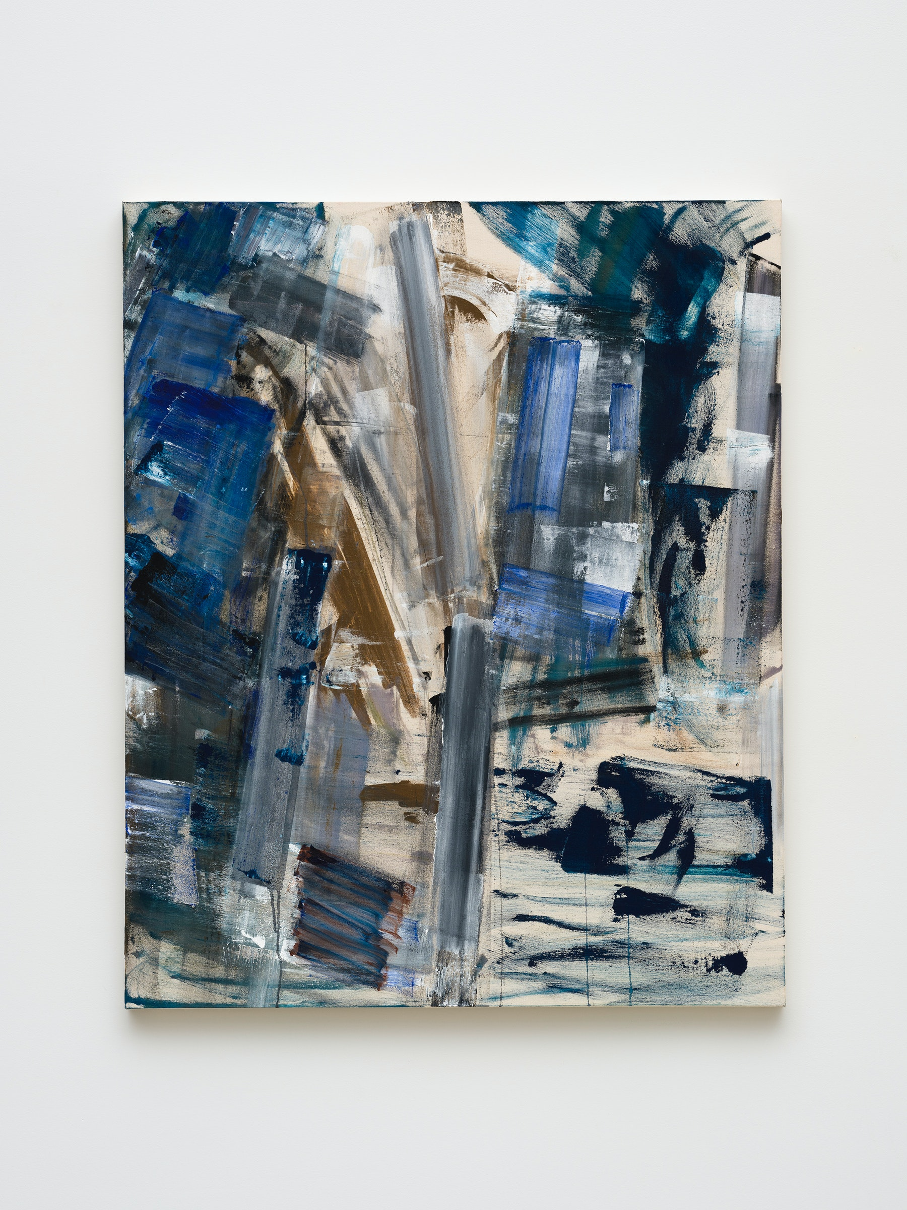 """Louise Fishman """"PROUN,"""" 2020 Acrylic on canvas 55"""" x 45"""" [HxW] (139.7 x 114.3 cm) Inventory #FIS181 Courtesy of the artist and Vielmetter Los Angeles Photo credit: Jeff Mclane"""
