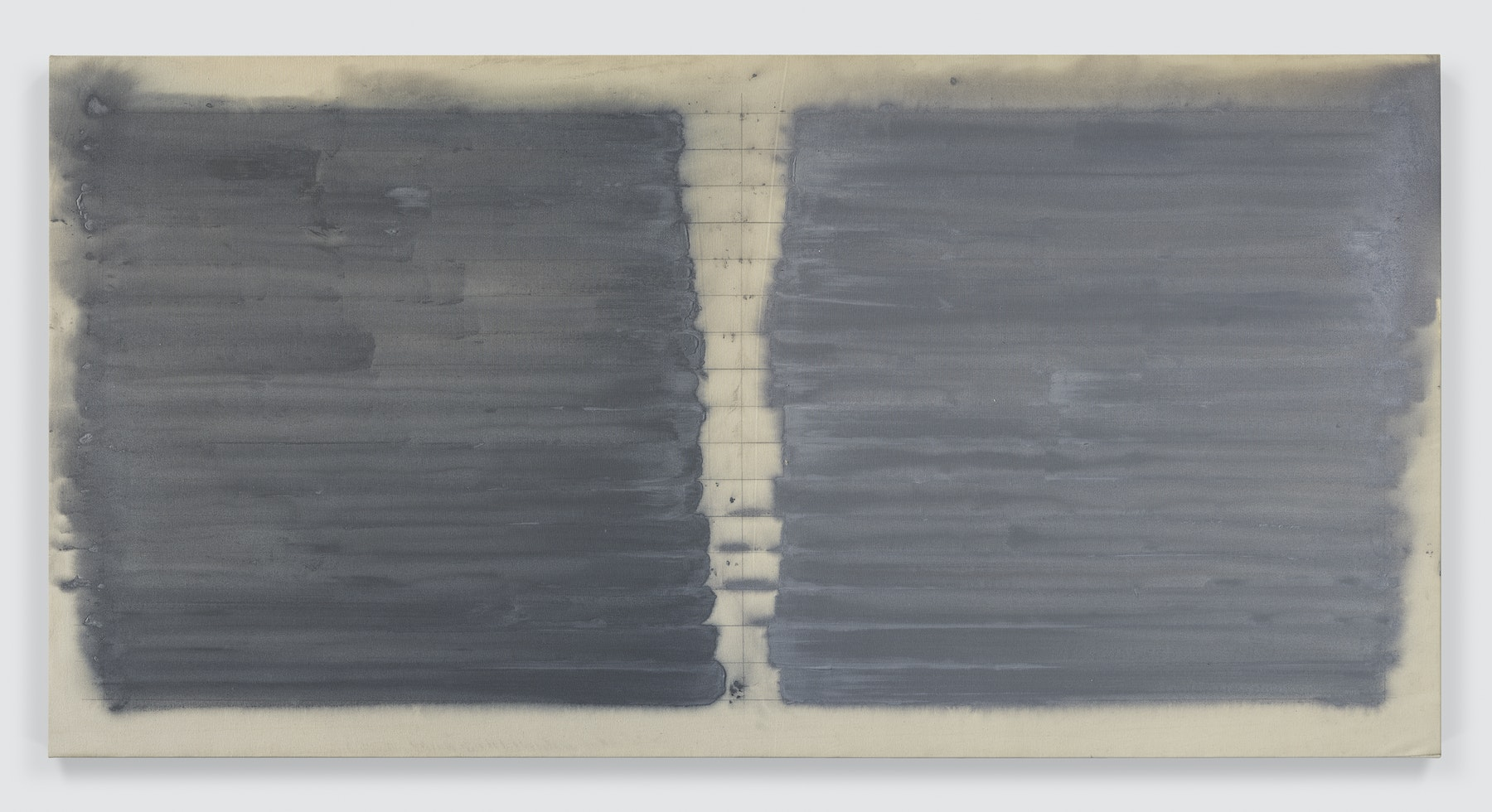 """Louise Fishman """"UNTITLED,"""" 1971 Acrylic on canvas 48 x 94"""" [HxW] (121.92 x 238.76 cm) Inventory #FIS125 Courtesy of the artist and Vielmetter Los Angeles Photo credit: Genevieve Hanson"""