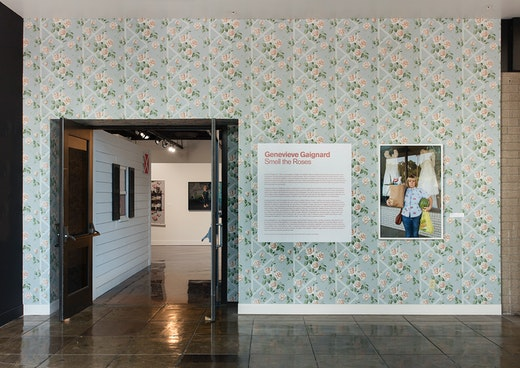 """Genevieve Gaignard Installation view, """"Genevieve Gaignard: Smell the Roses"""" at the California African American Museum (October 19, 2016–February 19, 2017)"""