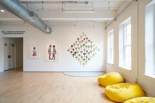 """Genevieve Gaignard and Deborah Roberts Installation view, """"Still I Rise"""" at MASS MOCA (June 15, 2019–May 25, 2020)"""