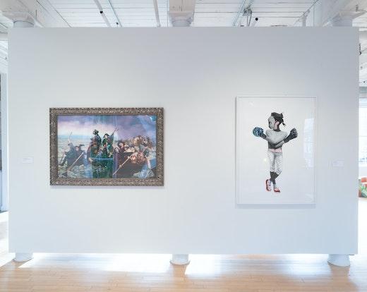 "Deborah Roberts Installation view, ""Still I Rise"" at MASS MOCA (June 15, 2019–May 25, 2020)"