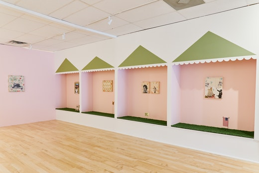 """""""A Long Way From Home,"""" MCLA Gallery 51 Installation view"""