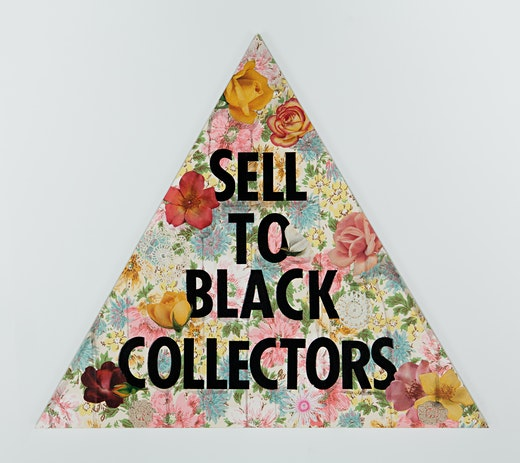 "Genevieve Gaignard ""Sell To Black Collectors (Pink),"" 2020"