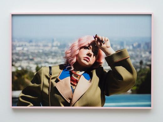 """Genevieve Gaignard """"Vogue #2 (Girl With Pink Hair),"""" 2020"""