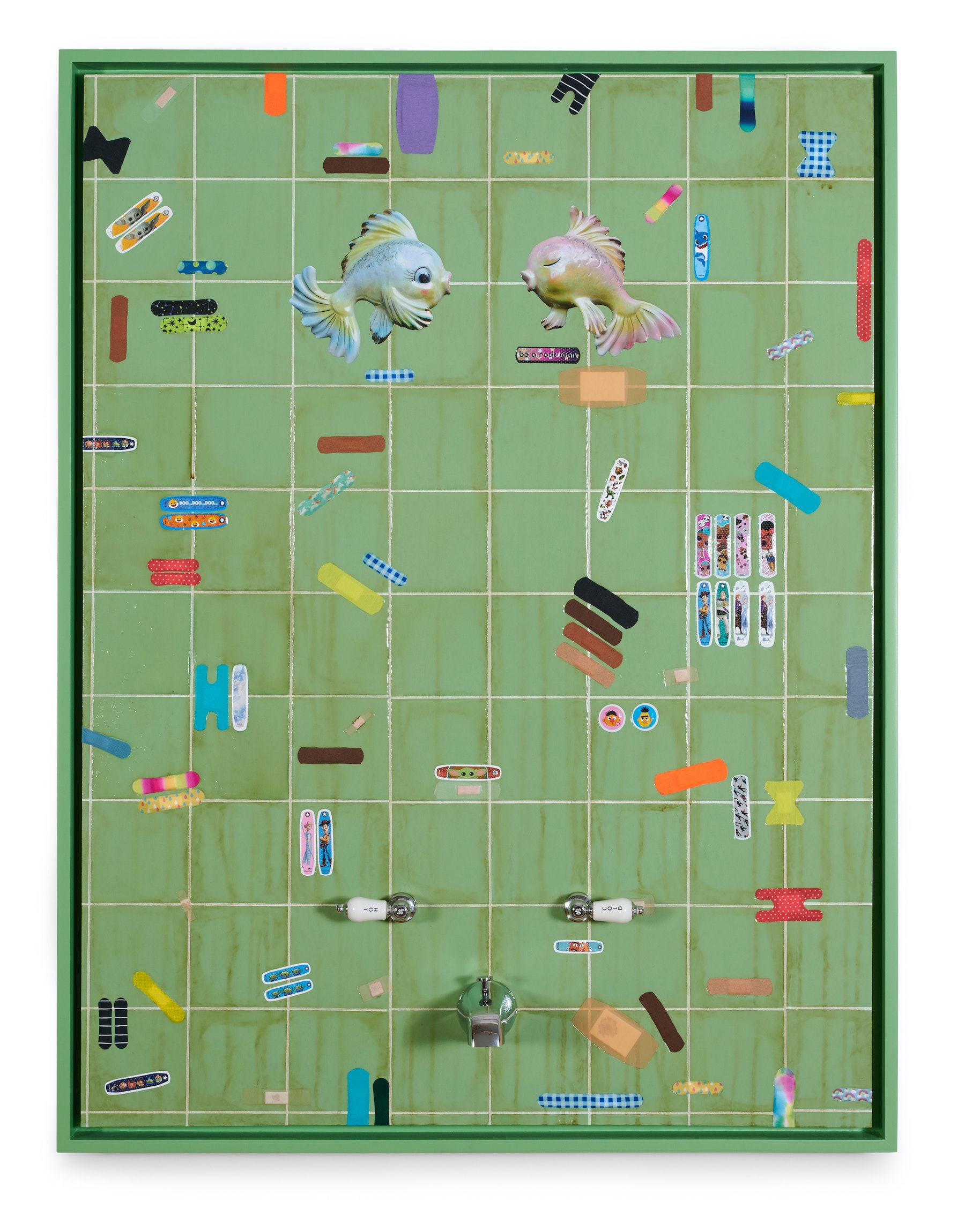 """Genevieve Gaignard """"Wash The Pain Away,"""" 2021 Mixed Media on panel 48"""" x 36"""" [HxW] (91.44 x 121.92 cm) Inventory #GEN338 Courtesy of the artist and Vielmetter Los Angeles Photo credit: Thomas Clark"""