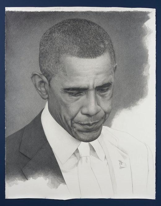 """Karl Haendel """"Unfinished Obama,"""" 2016"""
