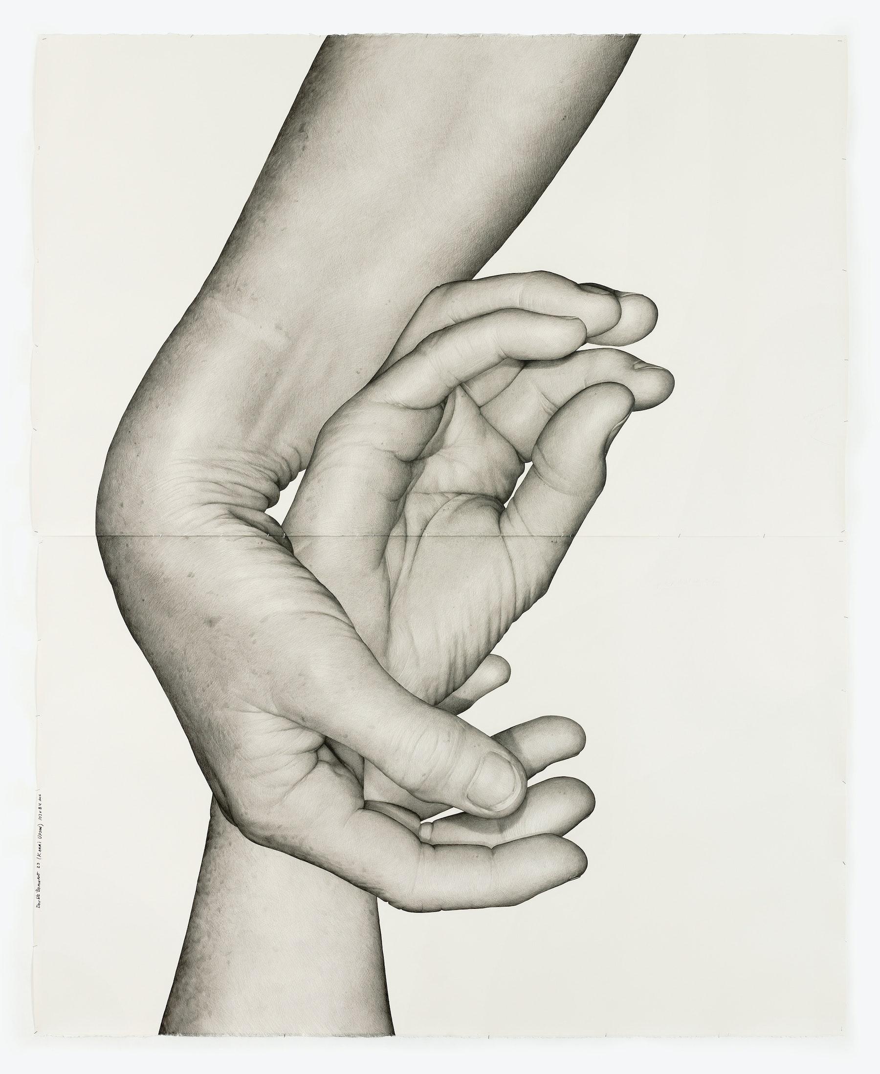 "Karl Haendel ""Double Dominant 23 (Kaari Upson),"" 2019 Pencil on paper 103 x 84"" [HxW] (261.62 x 213.36 cm) Inventory #HAE573 Courtesy of the artist and Vielmetter Los Angeles Photo credit: Robert Wedemeyer"