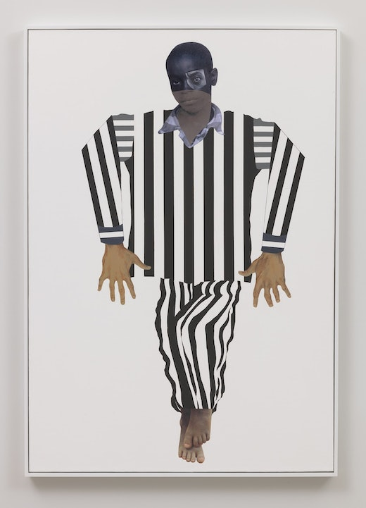 This is an artwork titled Facing the Rising Sun (Nessun Dorma Series) by artist Deborah Roberts made in 2018