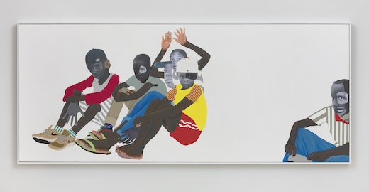 This is an artwork titled That One by artist Deborah Roberts made in 2018