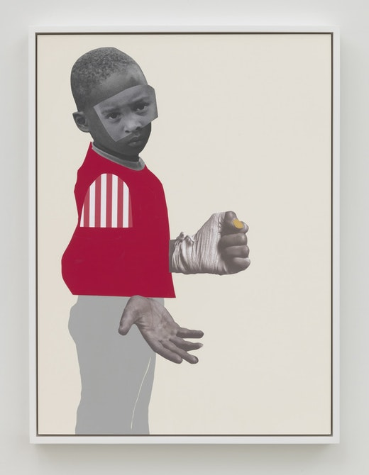 This is an artwork titled If they come by artist Deborah Roberts made in 2019