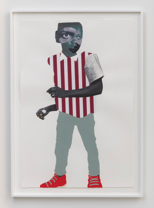 This is an artwork titled The Defiant one by artist Deborah Roberts made in 2019