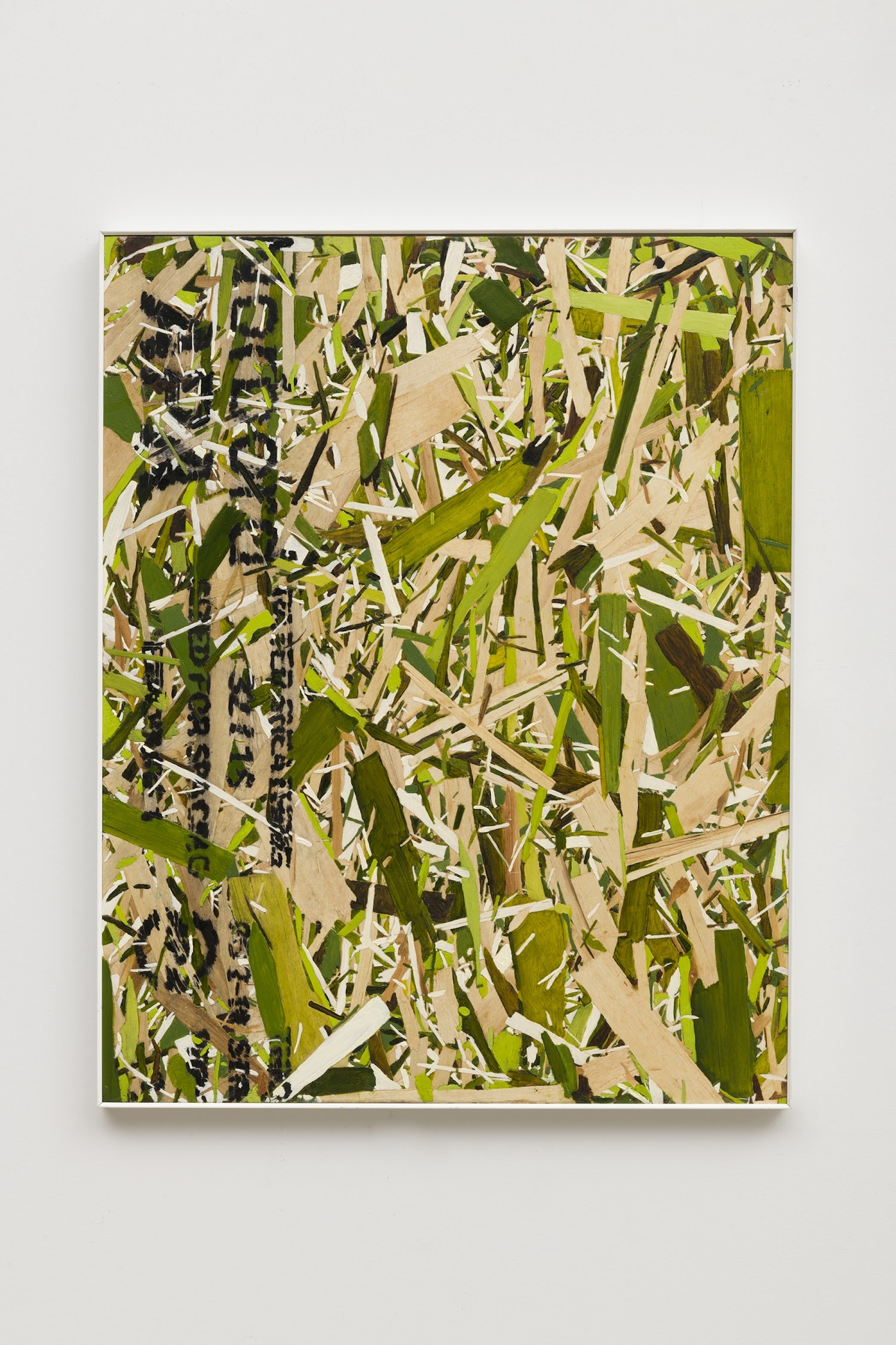 """Kim Dingle """"Home Depot Coloring book, GRASS,"""" 2019 24 x 19"""" [HxW] (60.96 x 48.26 cm) Inventory #DIN246 Courtesy of the artist and Vielmetter Los Angeles Photo credit: Jeff McLane"""