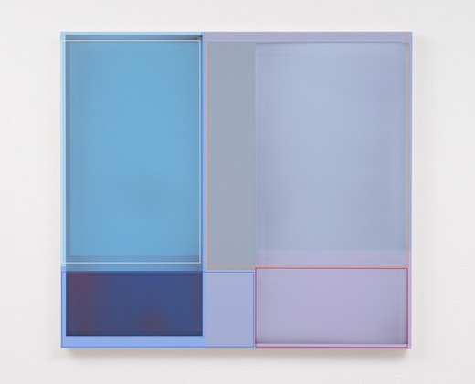 """Lavender Haze,"" 2014, acrylic on canvas, 37 x 41 inches"