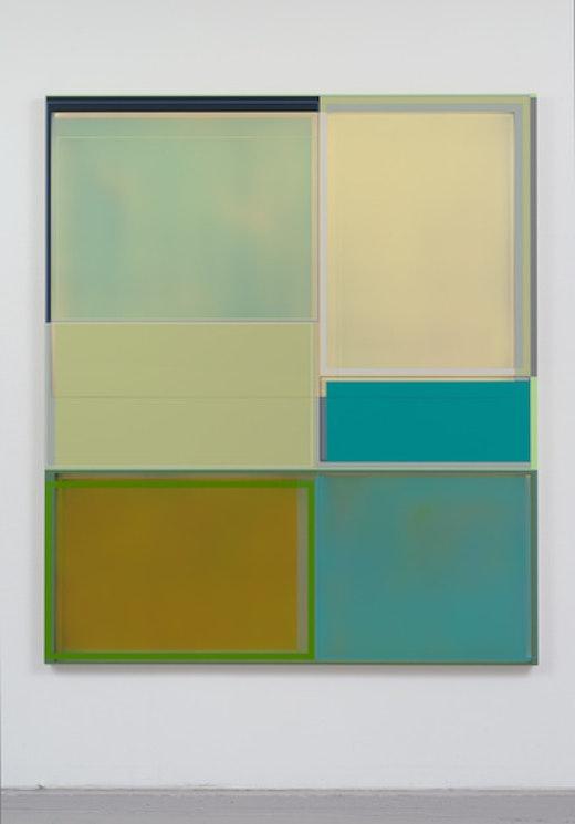 """Mantis,"" 2014, acrylic on canvas, 66 x 57 inches"