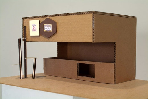 This is an artwork titled Model for Donut Shop by artist Alice Könitz made in 2006