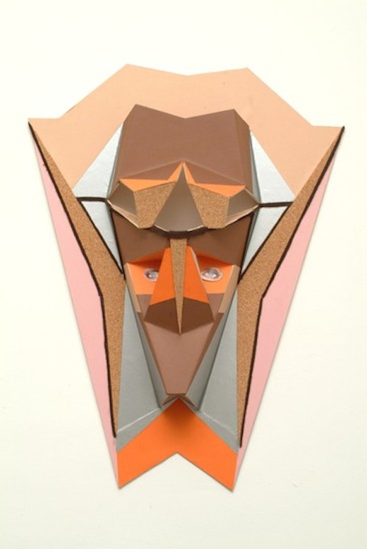 """This is an artwork titled """"Untitled (Owl Mask)"""" by artist Alice Könitz made in 2003"""