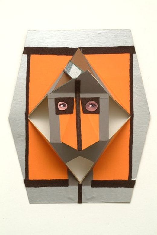 This is an artwork titled Untitled (Owl Mask) by artist Alice Könitz made in 2003