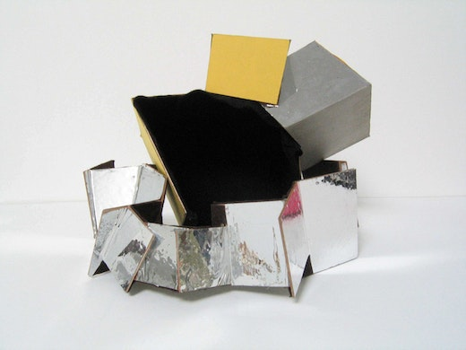 This is an artwork titled Untitled VIII (Square Accessory) by artist Alice Könitz made in 2004