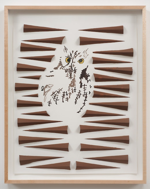 This is an artwork titled Untitled (Owl Drawing) by artist Alice Könitz made in 2002