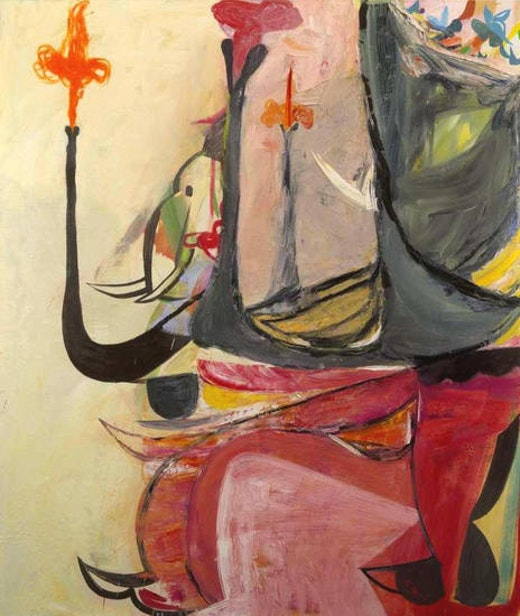 This is an artwork titled Elephant by artist Amy Sillman made in 2005