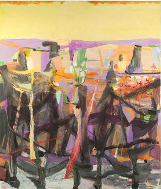 This is an artwork titled Flower Giver by artist Amy Sillman made in 2005
