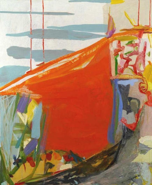 This is an artwork titled Cliff II by artist Amy Sillman made in 2005