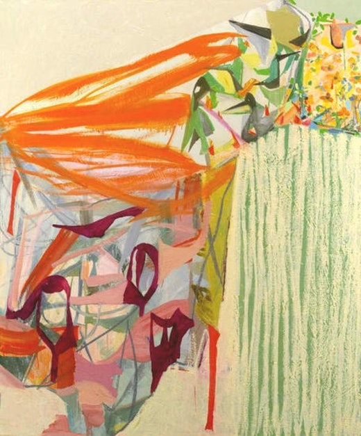 This is an artwork titled Cliff I by artist Amy Sillman made in 2005